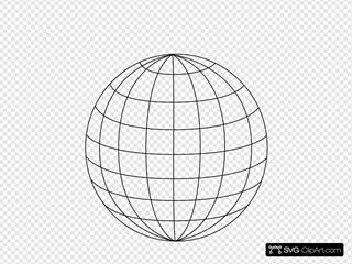 Black 3pt Wire Globe