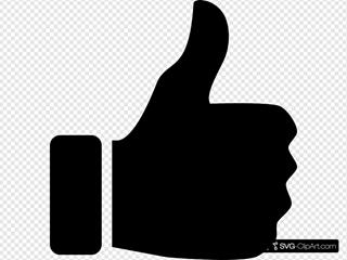 Thumbs Up Icon Black