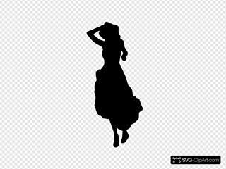 Woman Lady Silhouette Fashion Dress