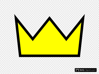 Clothing King Crown Icon SVG Clipart
