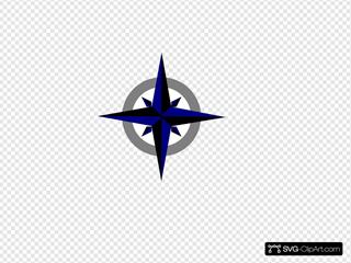 Bluegrey Compass Rose