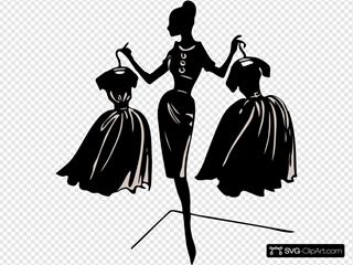 Fashion Designer Silhouette