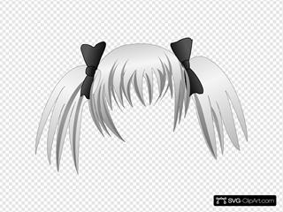 Secretlondon Manga Hair SVG Clipart