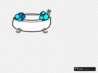 Tub Bubbles Black And White