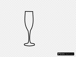 Champagne Glass Black