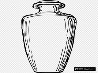 Black & White Greek Jar