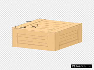 Wood Crate SVG Clipart