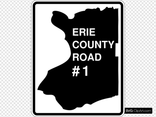 Erie County Route Ny SVG Clipart