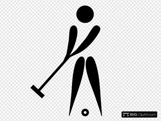 Olympic Sports Croquet Pictogram