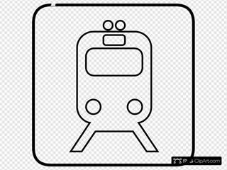 Train Black And White Sign