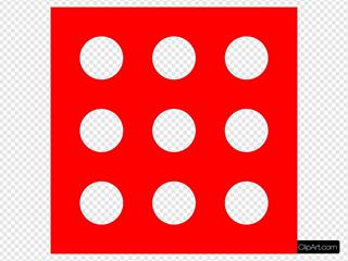 Red Die 9 SVG Clipart