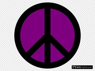 Purple And Black Peace Sign