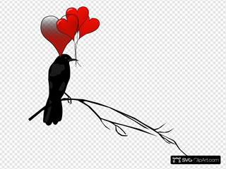 Raven With Balloons