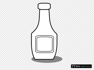Ketchup Bottle Black And White