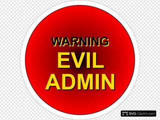 Evil Admin Warning SVG Clipart