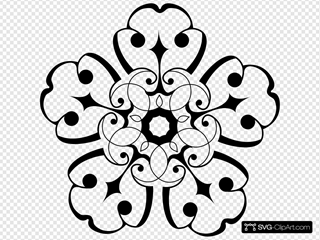 White And Black Ornamental Flower