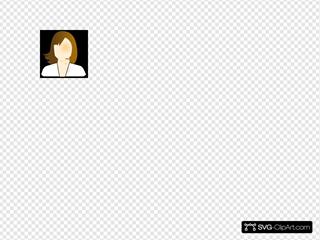 Female User Black Background
