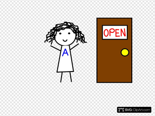 Abbie With Door