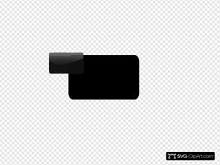 Black Glossy Button Inspire