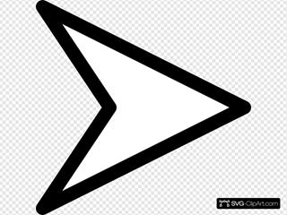 Plain Right White Arrow