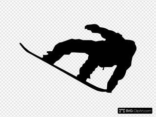 Snowboarder SVG Clipart