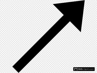 Up Right Black Arrow
