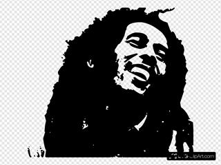 Bob Marley SVG Clipart