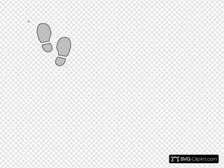 Shoe Print Bw Outline
