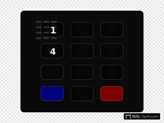 Glossy Black Keypad