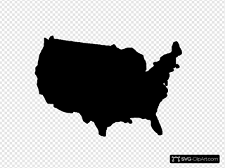 United States Map Black