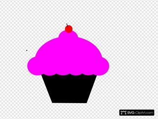 Black And Pink Cupcake