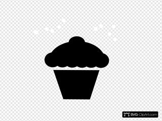 Polka Dot Cupcake Black