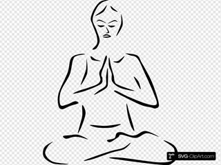 Stylized Yoga Person
