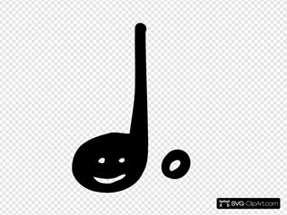 Happy Quater Note (with Dot)