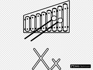 X Is For Xylophone SVG Clipart
