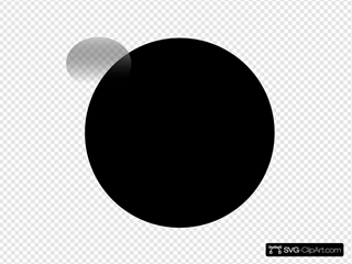 Glossy Black Icon Button