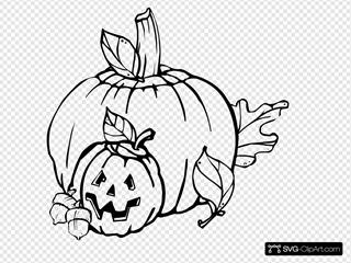 Pumpkins Black And White