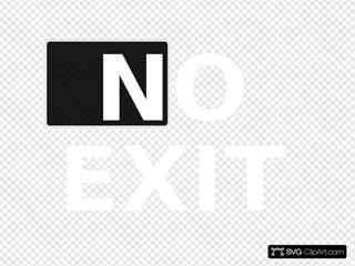 No Exit White On Black