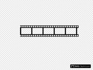 Black Strip SVG Clipart