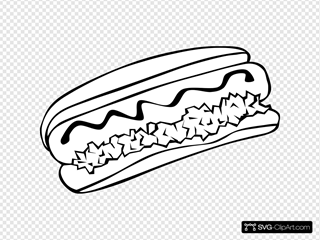 Hot Dog (b And W)