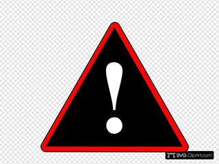 Red Black White Warning 1
