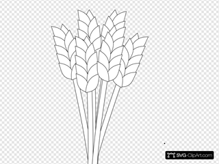 Wheat Black And White
