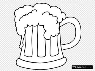 Beer Mug Outlined 2
