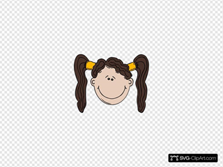 Girl Face Cartoon