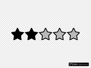 Two Black Star Rating