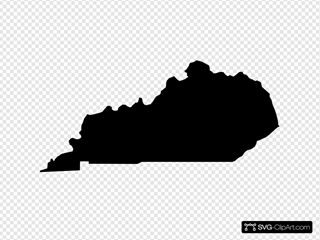 Kentucky Black State Shape