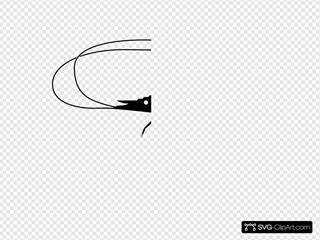 Black Shrimp Icon