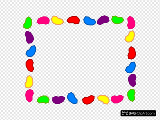Jelly Bean Background Black