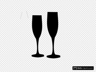 Black Champagne Glasses