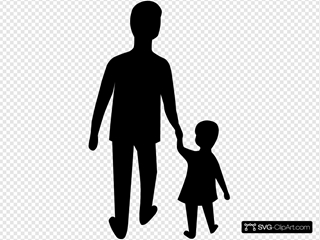 Adult And Child Silhouette